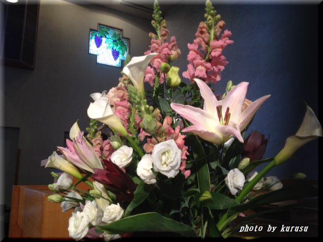 講壇の花2012年1月8日