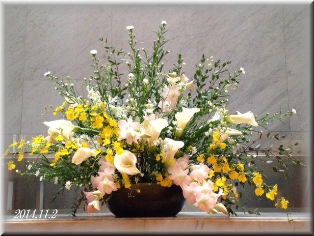 講壇の花2014年11月2日(献花)