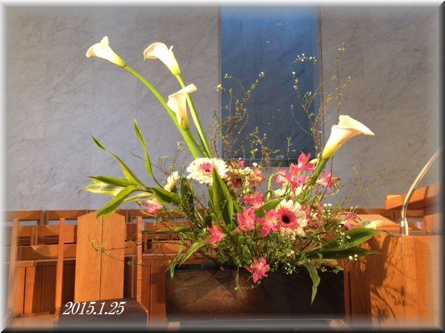 講壇の花2015年1月25日
