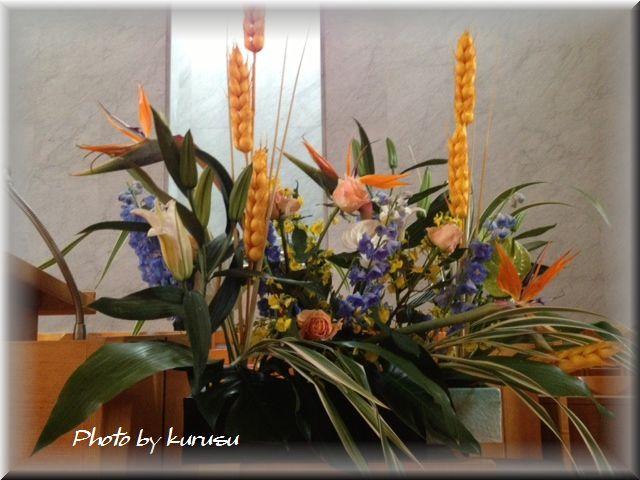 講壇の花2013年3月31日(イースター)